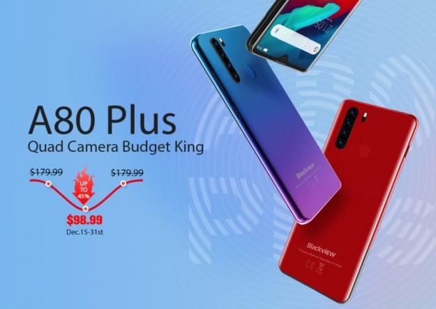 Blackview представила бюджетный смартфон A80 Plus за $98,99 долларов: большой аккумулятор и старт продаж 15 декабря