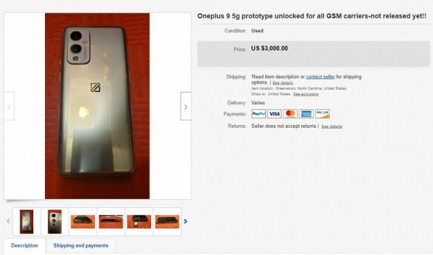 OnePlus 9 уже продается на eBay. За него просят $3000