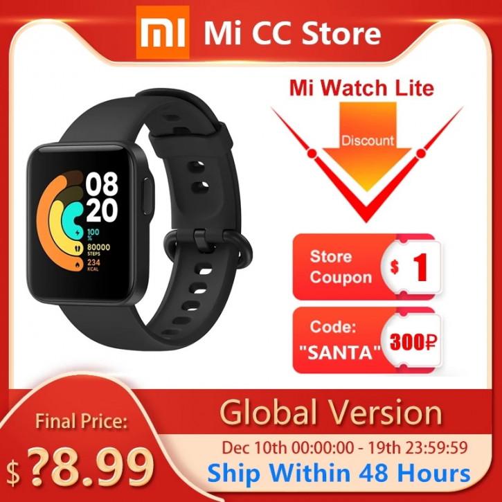 Неанонсированные Xiaomi Mi Watch Lite уже на AliExpress
