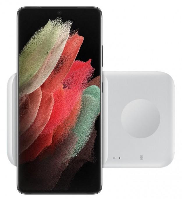 Samsung подготовила два варианта беспроводной зарядки Galaxy S21