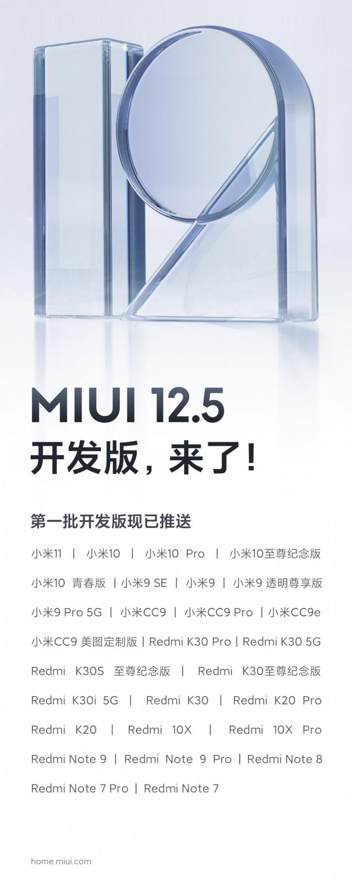 28 моделей Xiaomi и Redmi получают MIUI 12.5