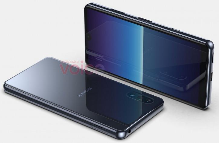 Компактный Sony Xperia с огромным подбородком теперь на 3D-рендере