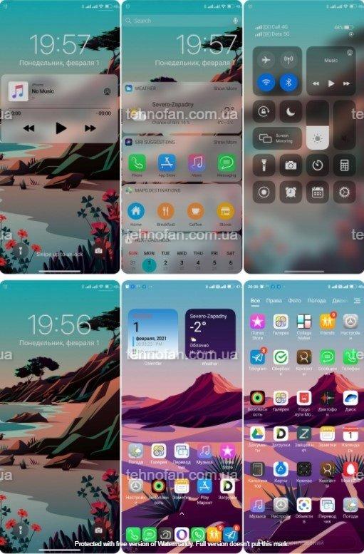 Новая тема iOS 14 LITE для MIUI 12 порадовала многих фанов Xiaomi