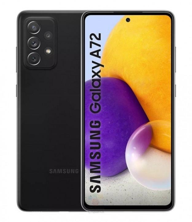 Samsung Galaxy A72: рендеры в четырех цветах и все детали