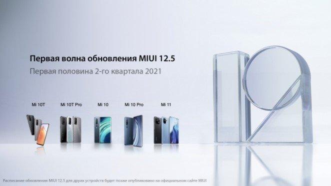 График обновления глобальной MIUI 12.5 и список совместимых устройств