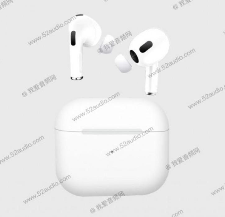 Детали и возможный дизайн Apple AirPods 3 раскрыты живыми фото