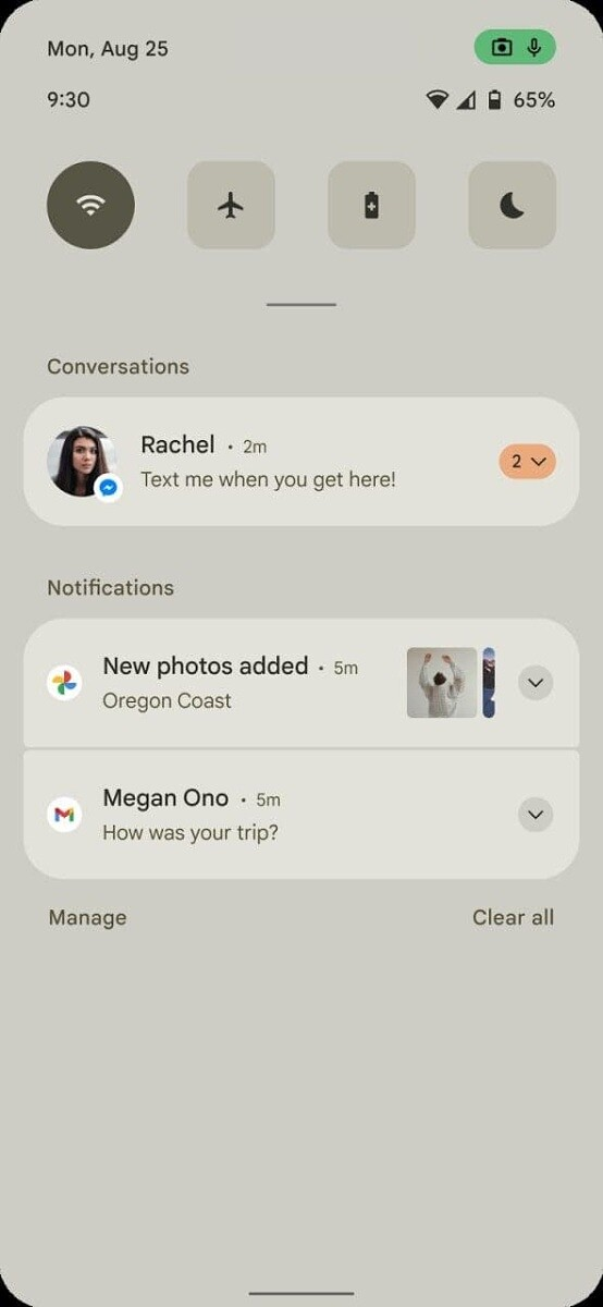 Первый взгляд на Android 12 на порции лаконичных скриншотов