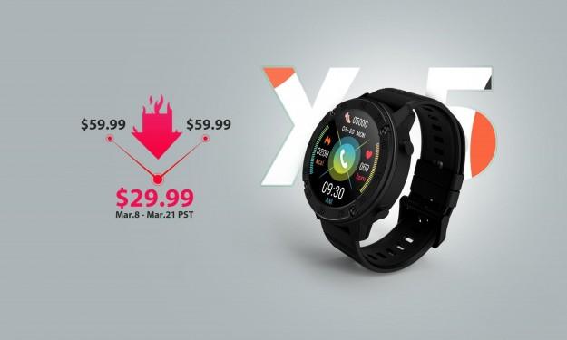 Представлены Blackview X5 – новые смарт-часы с ценником от $29.99 и защитой IP68