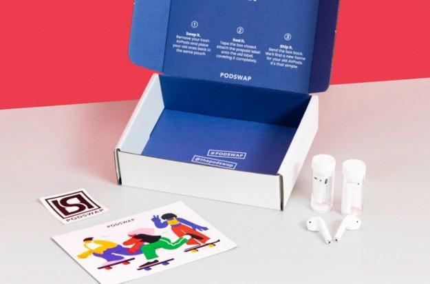 Podswap - первый в мире сервис по замене аккумуляторов для Apple AirPods