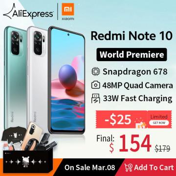 Готовимся к релизу! Xiaomi Redmi Note 10 на AliExpress со скидкой