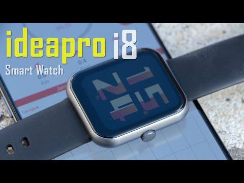 Видео обзор ideapro i8! Простые, дешевые смарт-часы с IPS дисплеем 1,7 дюйма