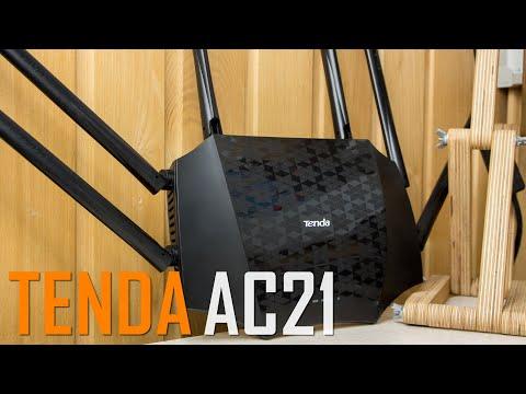 Видео обзор. Tenda AC21 - ничего лишнего! Только быстрый Wi-Fi и порты 1 Гбит/с