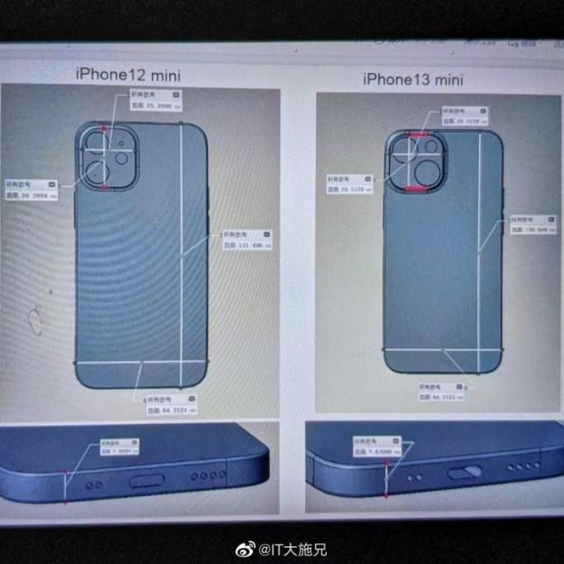 Новый дизайн iPhone 13 mini сравнили с iPhone 12 mini на 3D-рендерах