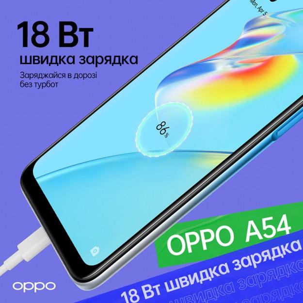 Объявлен старт продаж нового бюджетного смартфона OPPO A54 в Украине