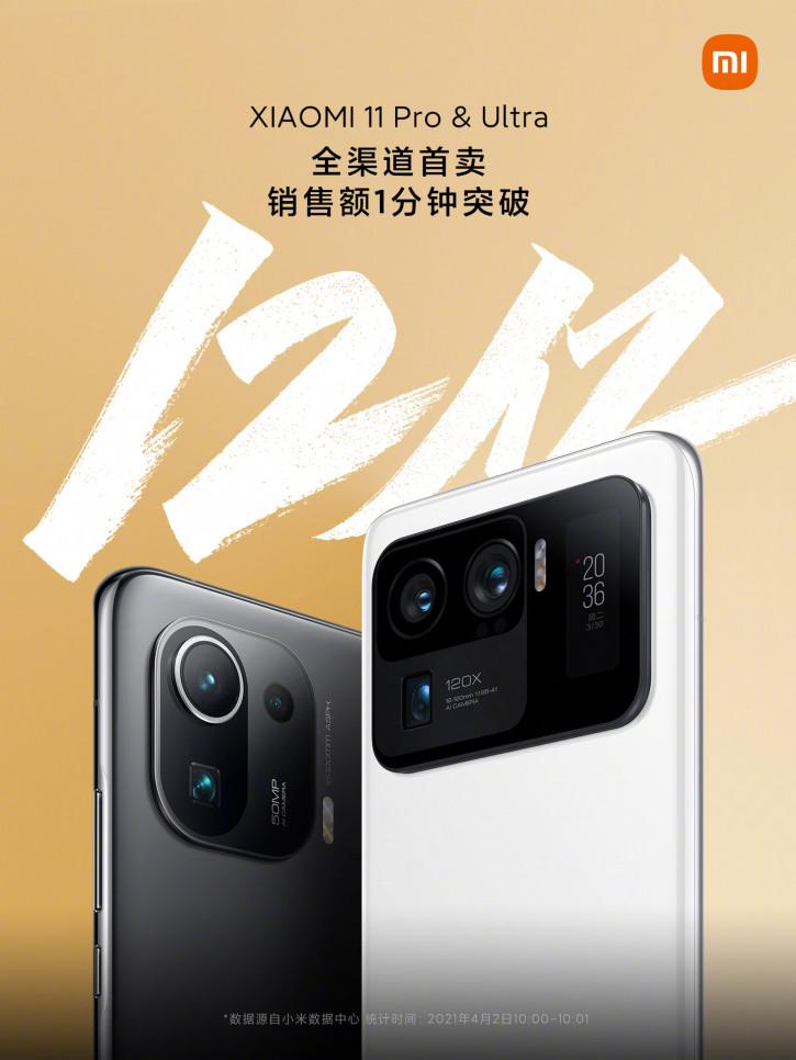 Старт продаж Xiaomi Mi 11 Pro и Mi 11 Ultra: 14 млрд рублей за минуту