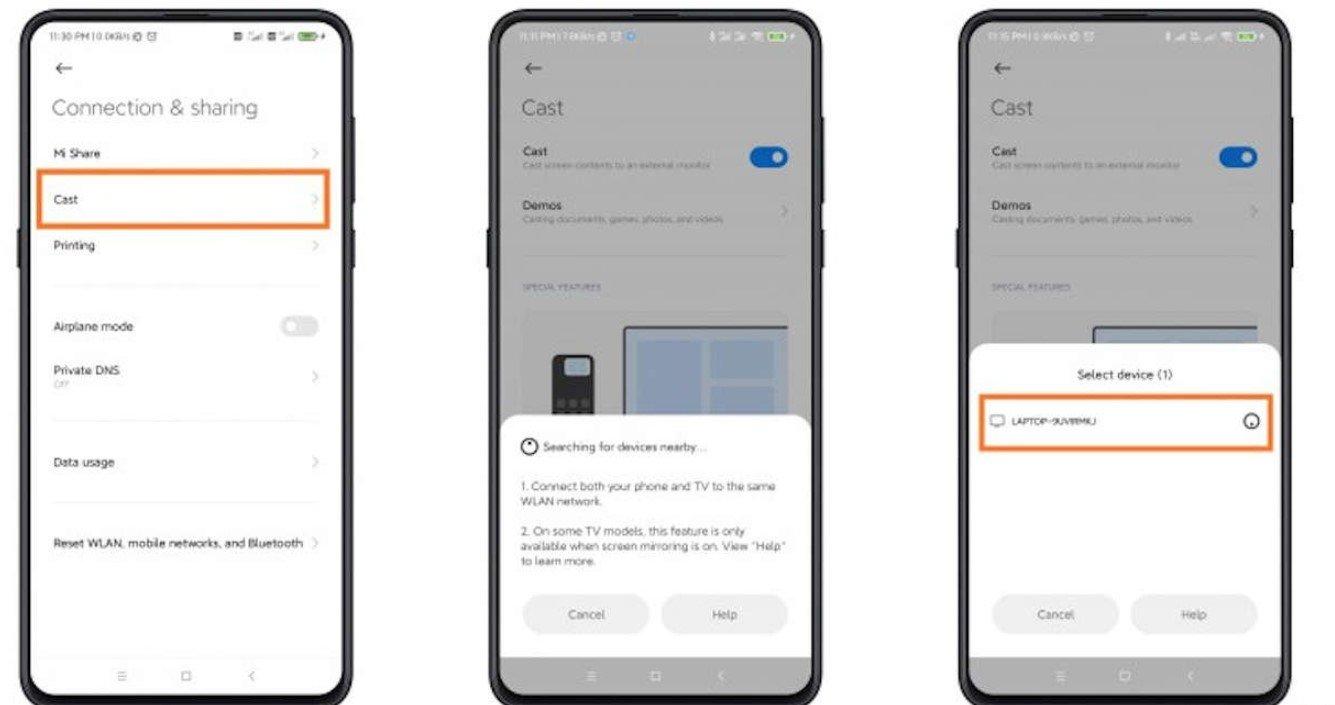 Как показать экран Xiaomi на телевизоре