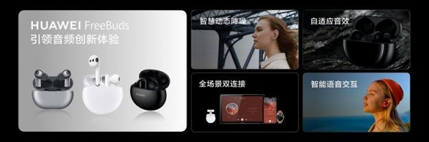Представлены беспроводные наушники Huawei FreeBuds 4