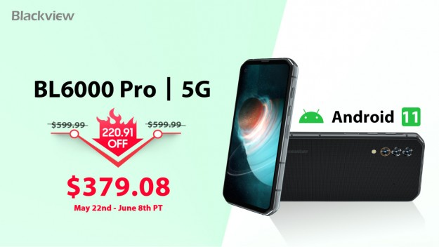 Новый Blackview BL6000 Pro уже получил ОС Android 11 и доступен со скидкой со скидкой более чем в 0