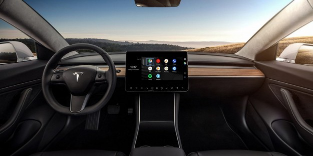 Это возможно: Android Auto запустили на электромобиле Tesla
