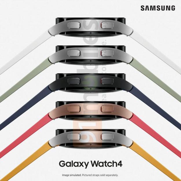 Пресс-фото Samsung Galaxy Watch 4 во всех цветах