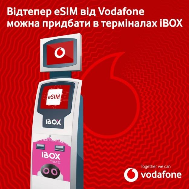 Карту eSIM от Vodafone теперь можно купить в автоматах iBOX