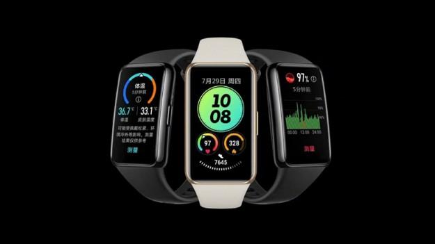Большой экран и измерение температуры тела: представлен умный браслет Huawei Band 6 Pro