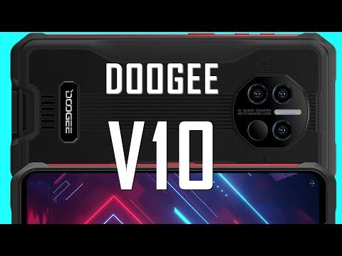 Видео анонс! Цена на Doogee V10 - от $199.99. Смартфон с 5G и термометром