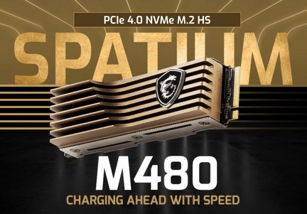 MSI представила PCIe 4.0-накопители Spatium M480 с массивным радиатором