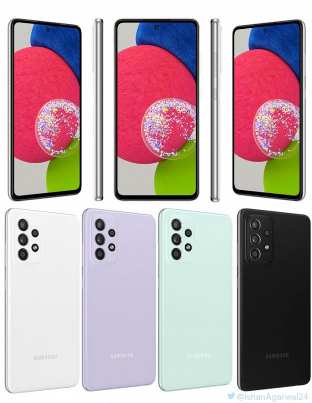 Samsung Galaxy A52s во всех цветах на пресс-фото до анонса