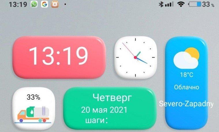 Новый виджет Red clock для MIUI 12 порадовал фанов Xiaomi