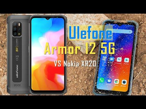 Видео сравнения характеристик Ulefone Armor 12 5G и Nokia XR20