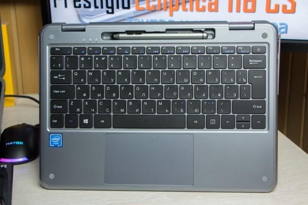 Обзор Prestigio Ecliptica 116 C3: клавиатура и тачпад