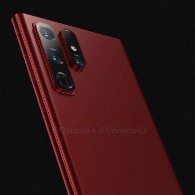 Такие разные Samsung Galaxy S22 Ultra в эффектном красном (рендеры)
