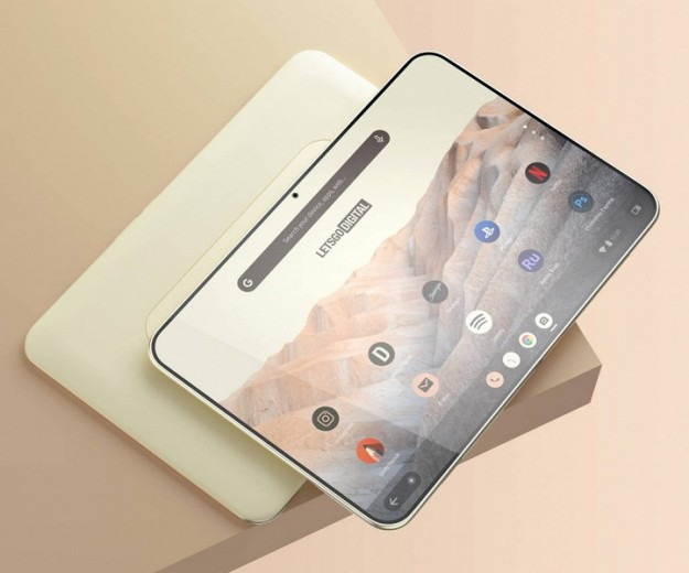 Так может выглядеть новый планшет Google с Android 12. Устройство показали на рендерах