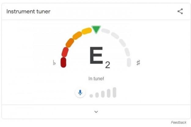 В поисковике Google появился встроенный тюнер для настройки гитар