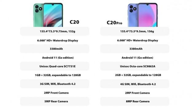 Бренд OSCAL представляет новый бюджетный 4G-смартфон C20 Pro на базе ОС Android 11