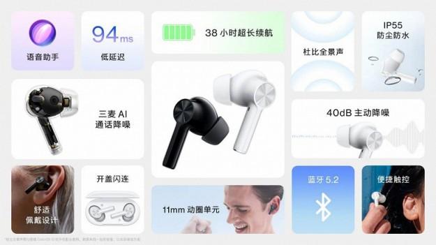 Представлены беспроводные наушники OnePlus Buds Z2